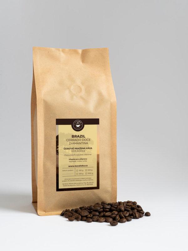 Čerstvě pražená káva Brazil Cerrado Dolce Diamantina