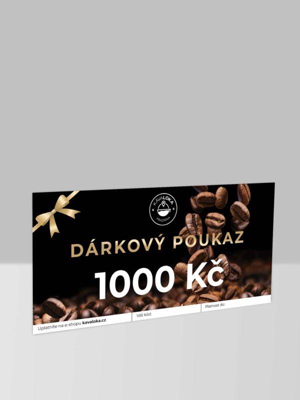 Dárkový poukaz na 1000 Kč Kávaloka