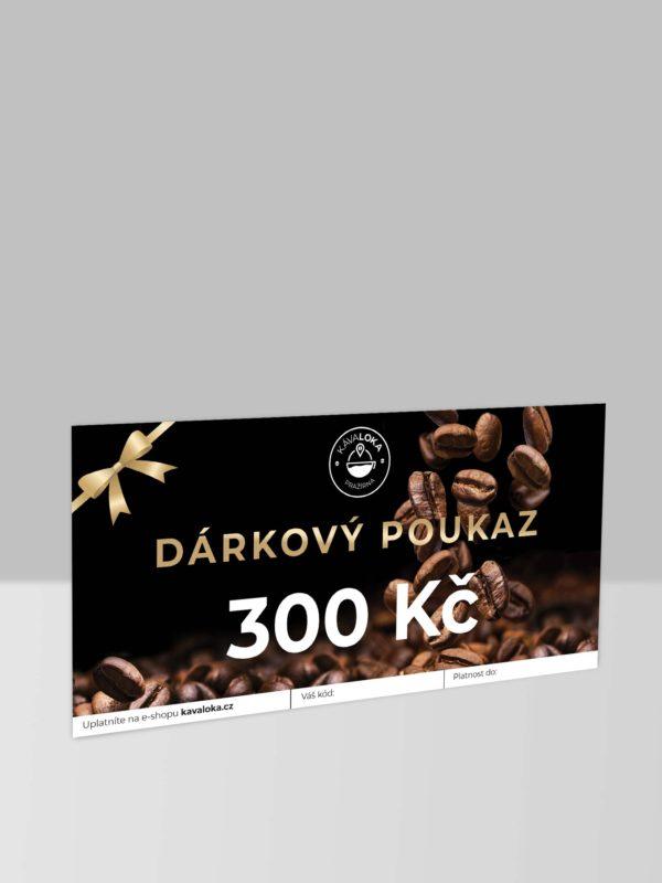 Dárkový poukaz 300 Kč Kávaloka
